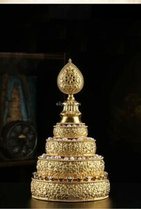 8'' Nepal Sterling Silver 24K gold buddhism eight auspicious symbols Mandala