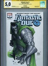 Dr. DOOM Sketch cover art by ALESSANDRO MICELLI CGC SS 5.0 Marvel Avengers