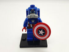 LEGO MINIFIGURES SUPER HEROES SPACE CAPTAIN AMERICA  FREE BASE 100% LEGO