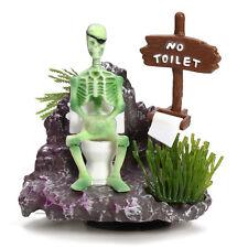 Skeleton On Toilet Action-Air Aquarium Ornament for Fish Tank