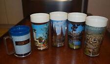 Vintage/Retro 4 STEDITEMP Insulated CUPS Tumblers 1 Mug SOUVENIR Newlyne KITSCH
