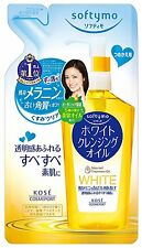 NEW KOSE Softymo White Cleansing Oil Refill 0.5 Pound 200ml Free S/H Japan