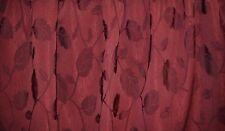 NEW burgundy LEAVES vines pattern fabric window valance