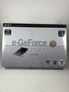 EVGA e-GeForce 6200 AGP 256 MB DDR Graphics Video Card nVidia Graphics