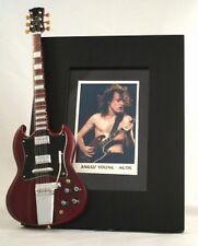 ANGUS YOUNG Miniature Guitar Frame AC/DC