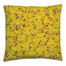 NEW POKEMON GO PIKACHU CUSHION PILLOW GIRLS BOYS KIDS BEDROOM GIFT PRESENT