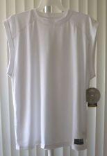Gold's Gym Sleeveless Shirt Muscle Shirt White Bi-Dri Medium