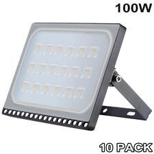 10X 100W LED Floodlight PIR Sensor Motion Cool Garden Outdoor Security Light