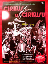CIRCUS IN CIRCUS 1976 CZECH MOSCOW RUSSIAN LEONOV VARLEY RARE EXYU MOVIE POSTER