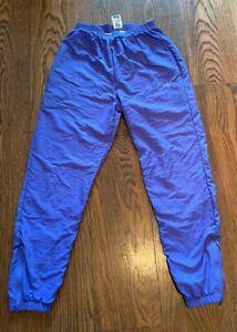 ADIDAS | VINTAGE SHELL TRACK PANTS | BLUE | ORIGINAL 80's 90's | WOMENS | MEDIUM