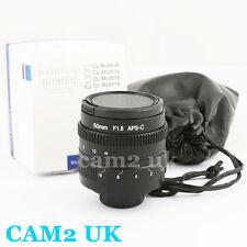 50mm f/1.8 CCTV C mount lens body for APS-C sensor camera EOS M NEX FX M4/3 P/Q
