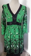 FAB LADIES SIZE 8 GREEN MULTI 3/4 SLEEVE TOP BY TOP BY ASOS
