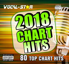 VOCAL-STAR 2018 KARAOKE CHART HITS 80 SONGS CDG CD+G 4 DISC SET - INC SONG BOOK