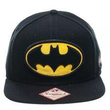 OFFICIAL DC COMICS BATMAN CLASSIC YELLOW & BLACK SYMBOL SNAPBACK CAP (BRAND NEW)