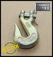 """6x 5/16"""" Clevis Grab Hook Chain Lever Ratch Binder Flatbed Truck Hooks Cargo Tow"""
