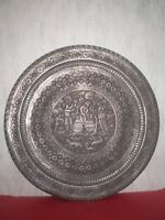 Handmade antique Persian Plate/Tray of Middle East, engraved from19th century