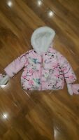 Ted baker girls pink printed hooded coat age 12-18 months new