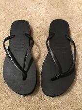 NWOB Havainas Flatform Thong Sandals Black size 11/12