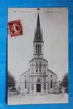 Postcard antique FOUNTAINS ON THE SAÔNE - church