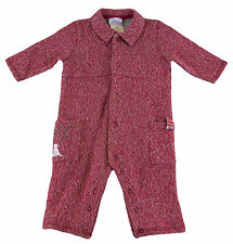 JACADI Boy's Algol Red / Gray Long Sleeve Cotton Jumpsuit Size 6 Months NWT $71