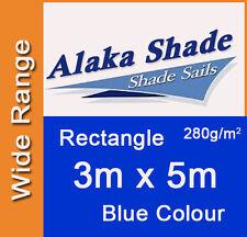 Extra Heavy Duty Shade Sail - Blue Rectangle 3x5m, 3m x 5m, 3 by 5m, 3 x 5m, 3x5