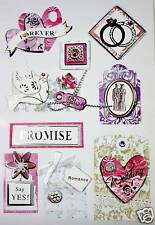 NEW 3D Sticker Scrapbook Embelishment forever say yes 24