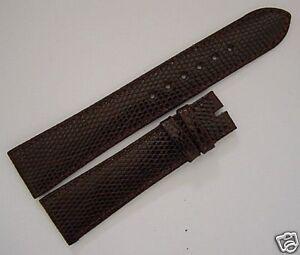 ROLEX, genuine brown  lizard watch band 20/16mm, NOS swiss made