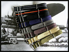 20mm Green NATO g10 UTC Military Diver Pilot watch band strap IW SUISSE 18 22 24