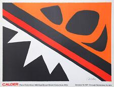 Alexander Calder La Grenouille Et Cie Ohio 1971 Unterzeichnet Große 25x32