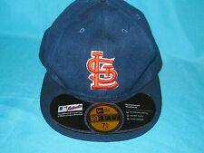 RARE MLB ST. LOUIS CARDINALS BLUE FITTED CAP HAT NEW ERA 5950 59FIFTY SIZE 7-1/8