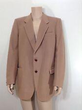 Vittorio Rex Tan Vintage Blazer Sport Coat Size 40R Italy Cashmere Blend Madmen