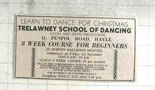 1974 Trelawney School Of Dancing David And Jenny Billingham Penpol Road Hayle