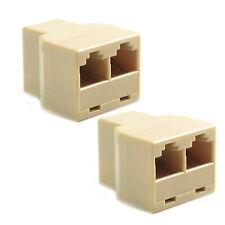 RJ45 Ethernet Splitter 2pc CAT 5 6 LAN Connector Adapter For PC Desktop Computer