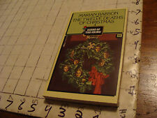 Dell 1st ed. Paperback book: THE TWELVE DEATHS OF CHRISTMAS marian babson 1981