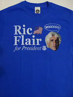 Ric Flair For President Officially Licensed Wrestling WWE T-Shirt S,3XL,5XL