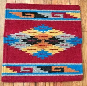 """90% Wool Southwestern 18"""" x 18"""" Pillow Cover, Wall Hanging Free Shipping!"""