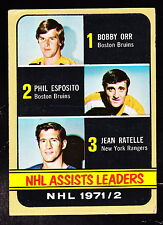 1972-73 TOPPS #62 BOBBY ORR/PHIL ESPOSITO/JEAN RATELLE