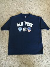 NEW YORK YANKEES NYPD FDNY FINEST BRAVEST WINNING-EST T-SHIRT MAJESTIC MENS XL