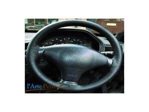 Peugeot 206 Steering Wheel Cover Black Genuine Leather