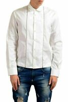 Dsquared2 Men's White Detailed Long Sleeve Casual Shirt US S IT 48