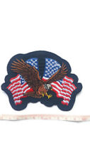 AMERICAN EAGLE UPWING USA Merican Embroidered Iron On / Sew On Crest Badge Patch
