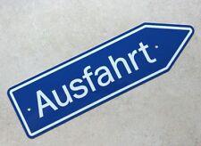 AUSFAHRT SIGN - German Autobahn Exit Marker - Aluminum -   /  FREE SHIPPING !