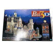 3D Bavarian Castle w/ Working Lights 836 PC Fully Dimensional Puzzle Not Tested