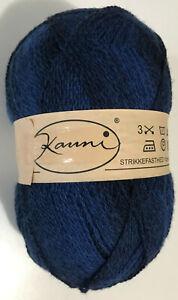 KAUNI 100% Wool 8/2 Sock Yarn Gradient Blue / Black #ELC 147g