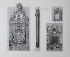 Kalender unterlegtes Glas Spiegel Sägeuhr - Lichtdruck Druck Sachsen ca. 1910