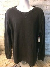 Route 66 Mens Vintage Weathered Gray Pullover Long Sleeve Sweater XL $20 [A87]