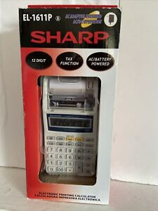 Sharp EL-1611P Printing Calculator * NEW In Box * - Tested - Good