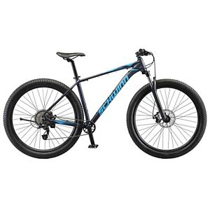 "Schwinn Axum mountain bike, 8 speeds, Large 19"" frame, 29"" wheels, blue"