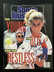 Monica Seles Signed Sports Illustrated 6/18/90 No Label Tennis Fed Cup Auto JSA