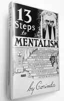 13 STEPS TO MENTALISM by Tony Corinda - New Hardcover Mentalism Telepathy Book
